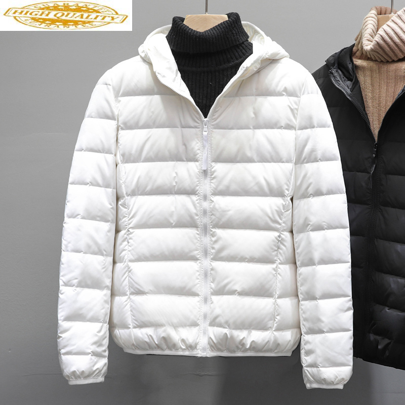 Ultra Thin Down Jacket Women Hooded Autumn Winter Korean Seamless Duck Down Coat Female Plus Size Coats K-8903 KJ3838