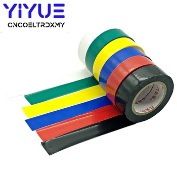 10M Electrical Tape Insulation Adhesive Tape Waterproof PVC 18mm Wide High-temperature Tape White Black Red Blue Green 18mmX10m