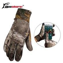 Мужские зимние теплые флисовые камуфляжные перчатки для рыбалки, противоскользящие походные охотничьи перчатки, спортивные перчатки с сенсорным экраном
