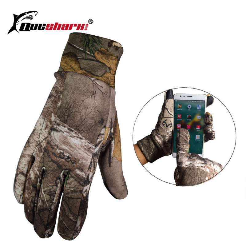 Men Winter Warm Fleece Full Finger Camouflage Fishing Gloves Anti-slip Camping Hiking Hunting Gloves Touch Screen Sports Gloves