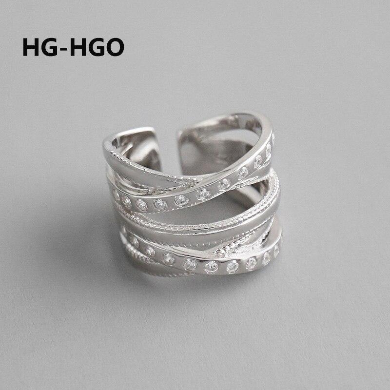 925 argent Sterling femmes anneaux 925 argent coréen mode bijoux anneaux gothiques réglable Vintage grands anneaux bague irrégulière