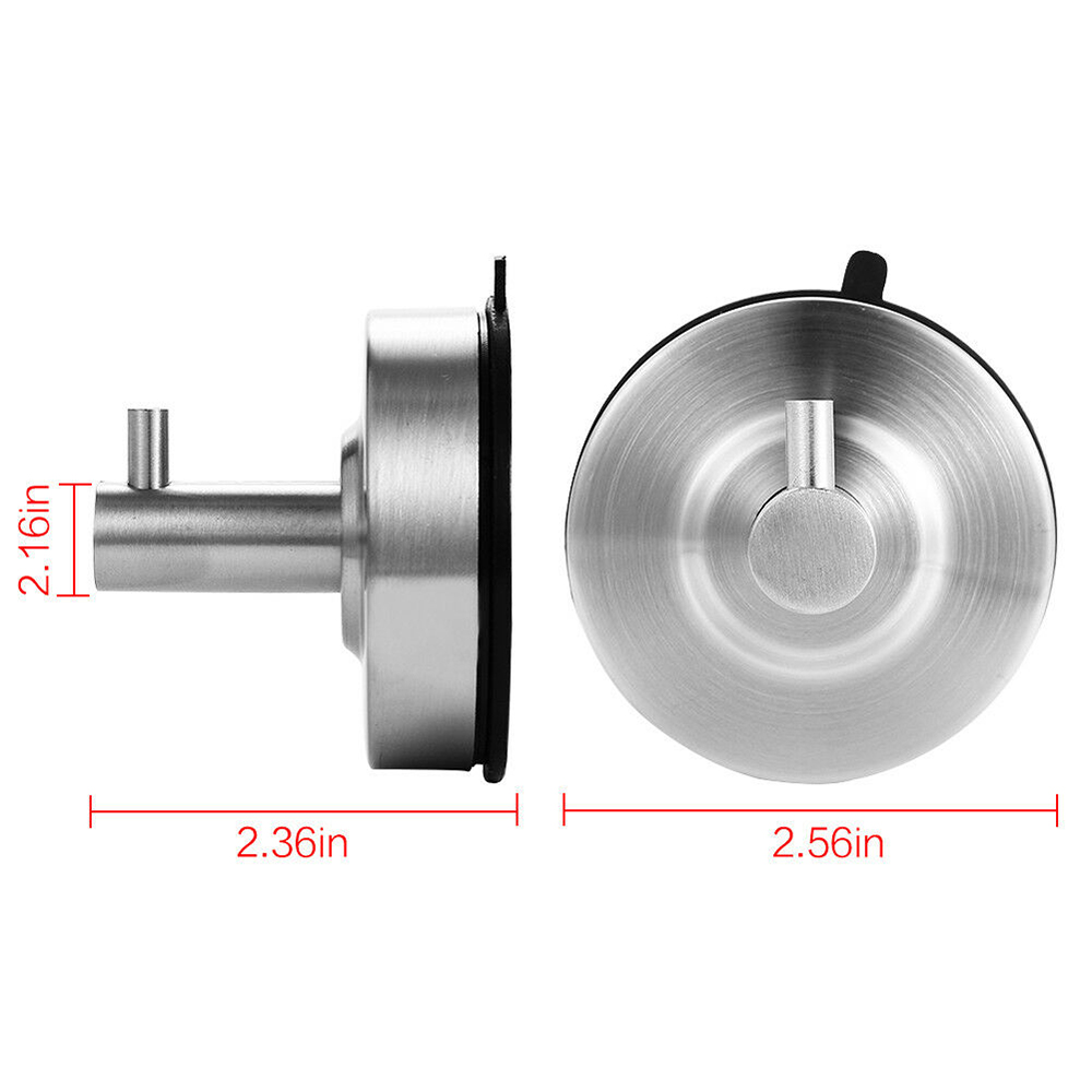 2019 New Useful Strong Vacuum Suction Cup Stainless Steel Towel Hook Hanger For Bathroom Kitchen