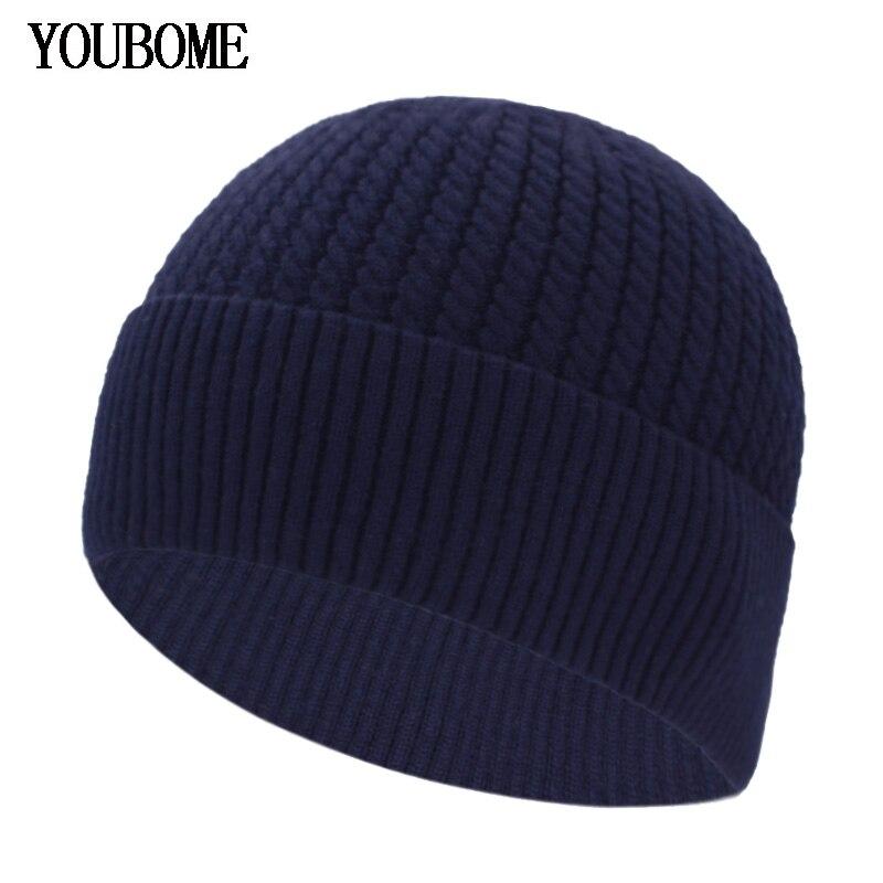 Skullies Beanies Men Winter Hats For Men Knitted Hat Women Male Gorro Warm Balaclava Bonnet Female Winter Beanie Hat Winter Cap