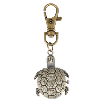 Tortoise Watch Key Chain Bronze Case Pocket Watches for Men General White Dial Accessory Women relojes de bolsillo para hombre 2019 new ebony bronz pocket watches necklacee men quartz pendant watch with chain women gift relojes de bolsillo para hombre