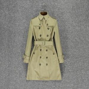Revers graben mantel frauen frühling der 2020 neue kleine medium und langen Britischen stil klassische mode mantel frauen