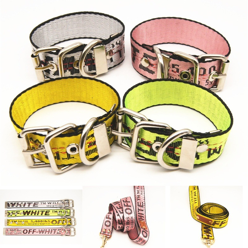 Off-Pet Collar Medium Large Dog Hand Holding Rope Golden Retriever Shiba Inu Bull Neck Ring Pet Supplies