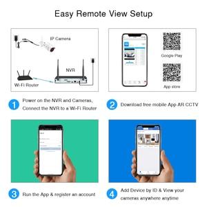 Image 4 - ANRAN 8CH inalámbrico sistema de cámaras de seguridad Video de 1080P cámara de vigilancia inalámbrica Bluetooth H.265 HDD 2MP IP66 inalámbrico NVR conjuntos