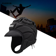 WOSAWE Goalkeeper Helmet Thickened EVA Padded Rugby Protector Adjustable Breathable Head Guard Gear for Soccer Football Surfing