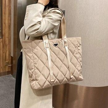 Женские дизайнерские сумки-тоуты осень-зима из нейлона