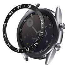 Coque adhésive anti-rayures pour Galaxy Watch 3, Protection en acier inoxydable, 45mm, 41mm
