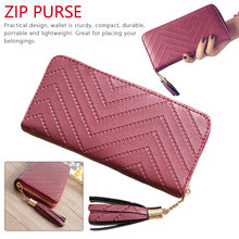 Casual New Women Wallets Whtie Long Clutch Bag High Quality Leather Tassel Purse With Zipper Card Holder Single Pull