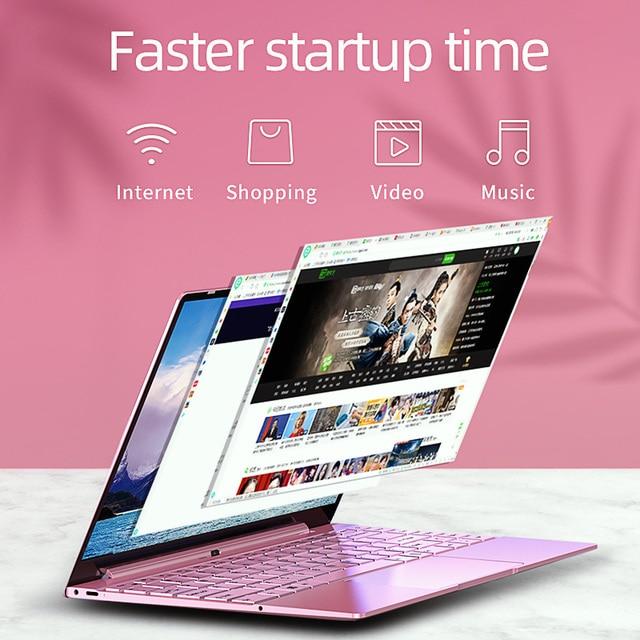 Dere V14 Air 14.1inch Laptop Notebook Intel i7 1920x1080 IPS Backlit Keyboard 8GB 256GB Gaming Computer Windows 10 Pro Mini PC 6