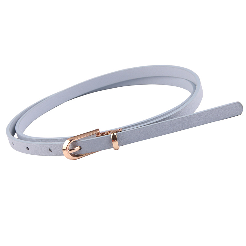 New Faux Leather Women Belt Candy Color Women Dress Decoration Thin Skinny Waistband 105cm Adjustable Belt Korean Waistband