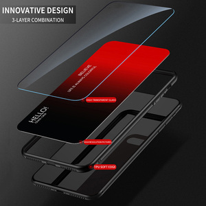 Image 4 - Luxury Glass Case For Redmi 7A Case 9H Tempered Glass Silicone Cover Hybrid Bumper Back phone Cover For Xiaomi Redmi 7 Case