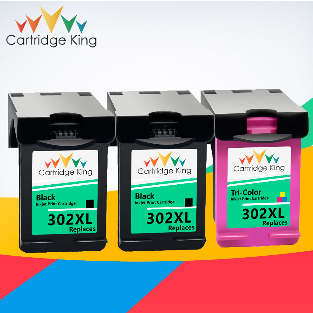Cartridge King 302XL Cartridge for <font><b>hp</b></font> 302 XL hp302 <font><b>Ink</b></font> Cartridge for <font><b>hp</b></font> <font><b>Deskjet</b></font> 1110 1111 1112 <font><b>2130</b></font> OfficeJet 5220 5230 <font><b>printer</b></font> image