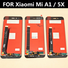 For Xiaomi MiA1 5X LCD Display+Touch Screen Digitizer Glass Lens Assembly Replacement ^ a 30 pin lcd display 7 supra m726g m727g m728g tablet inner tft lcd screen panel lens module glass replacement