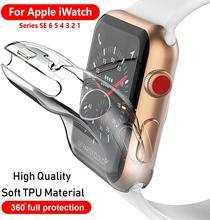 Чехол для часов чехол для Apple Watch iPhone SE/6/5/4 40 мм 44 мягкая 360 тонкий чистый ТПУ Экран протектор для наручных часов iWatch серии 3/2/1 38 мм 42 мм