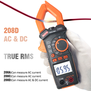 208A 208C 208D Digital Clamp Meter Automatic Range True Rms High Precision Multimeter Tester With Temperature Measuring