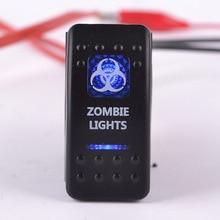 Автомобильный переключатель/модифицированные двойные лампы переключатель кнопка/с Светодиодный индикатор/зомби свет корабль