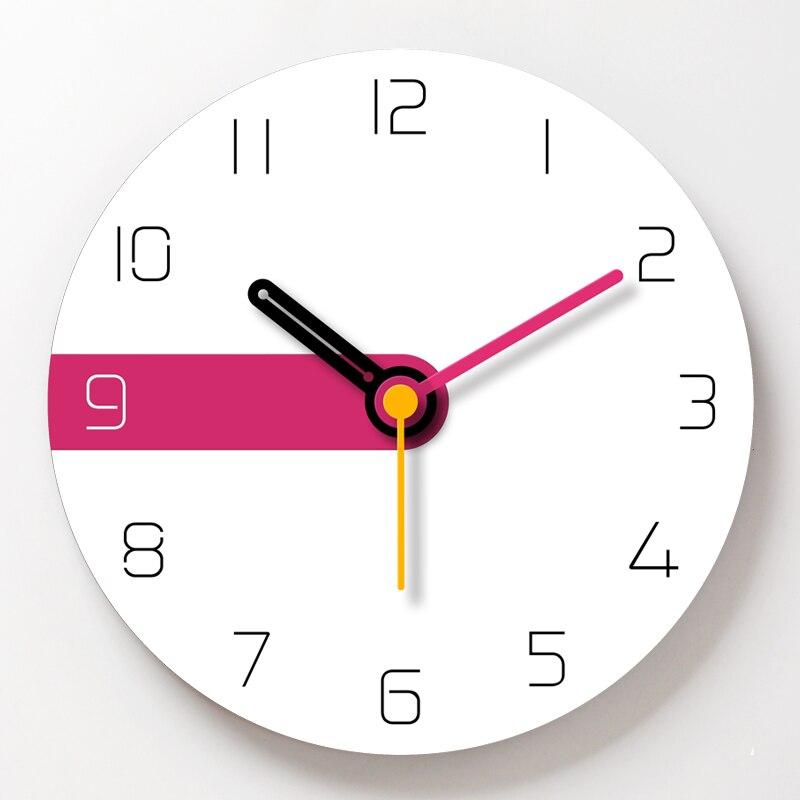 Horloge murale créative blanche moderne Style nordique Art Quartz horloge salon idées cadeaux Relojes Madera Pared décor à la maison BB50W