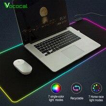 Vococal большой светодиодный RGB коврик для мыши USB Проводное освещение игровой геймер Коврик для мыши Коврик для компьютера Overwatch Pubg alfombrilla raton