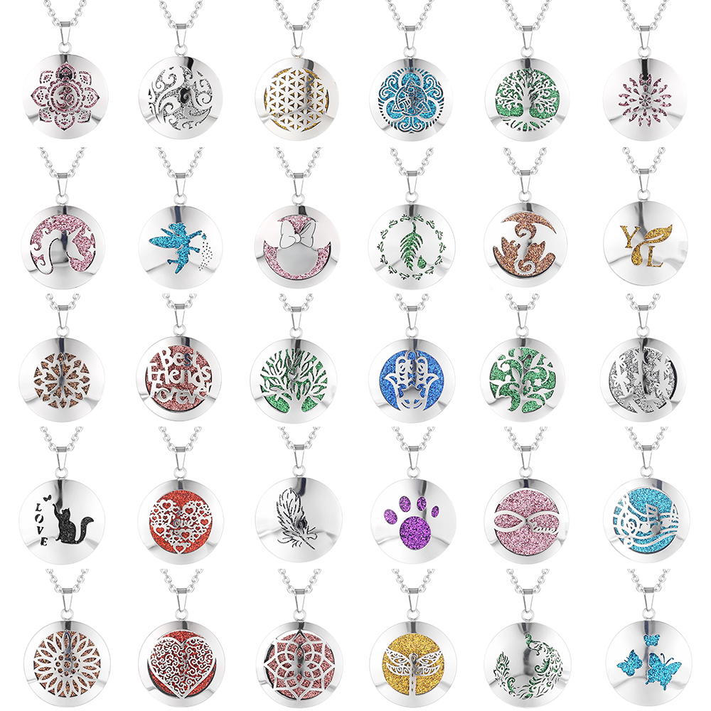 Aromatherapy Essential Oil Diffuser Locket Necklace (47)