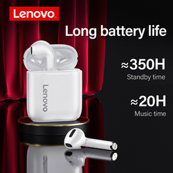 Original Lenovo LP2 TWS Bluetooth Earphone 5.0 HIFI Music Headset Waterproof Ipx5 with Microphone Type-c fast Charging headphone