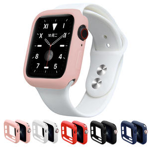 Soft-Silicone-Case Strap-Accessories Apple Watch for 5-40mm 44MM 1-2-3-4-Protection 42mm