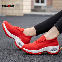 Platform Sneakers Women Flats 2020 Breathable Casual Shoes Flats 6 Colors Wedges Sneakers for Women Mesh Sock Zapatos De Mujer platform sneakers women shoes casual sneakers wedges platform shoes mesh breathable autumn white sneakers women zapatillas mujer