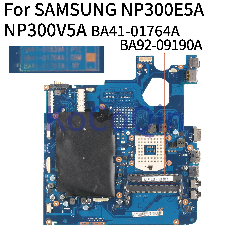 KoCoQin Laptop Motherboard For SAMSUNG NP300E5A NP300V5A Mainboard  BA41-01764A  BA92-09190A HM65