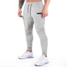 NEW Men Pants Fitness Sports Casual Elastic Pants men Bodybuilding Clothing Casual fashion Sweatpants Joggers Gym Workout Track
