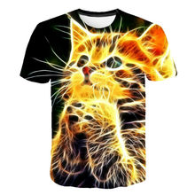 Boy Girl Wolf Cartoon 3D Short Sleeve T-shirt Summer High Quality Short Sleeve Multicolor T-shirt Children's Clothing