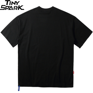 Image 2 - Oversize Hip Hop T Shirt Men 2020 Streetwear Harajuku Masked Man Print Tshirt Short Sleeve Cotton Casual T Shirt Black Plus Size