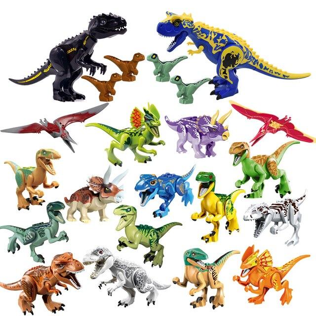 Jurassic 2 Building Blocks World Dinosaurs Figures Bricks Assemble Kids Toys Tyrannosaurus Rex Indominus Rex I-Rex 2