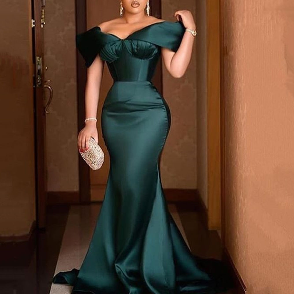 green off shoulder elegant evening party dress sexy celebrity mermaid maxi vestidos luxury 2020 gowns plus size women long dress|Dresses| - AliExpress