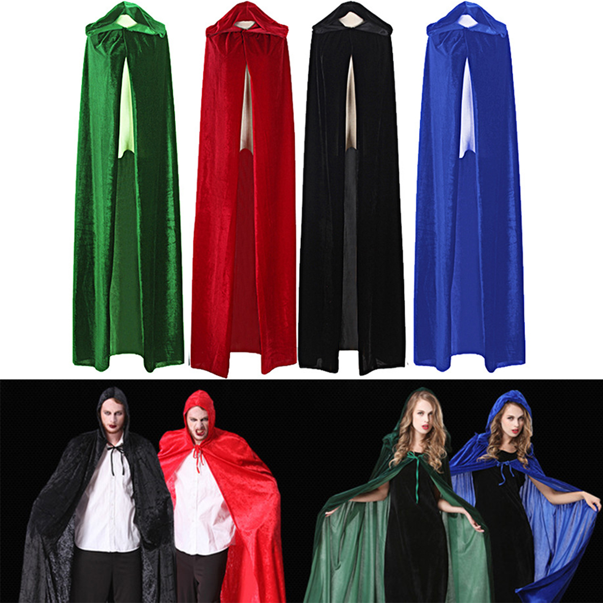 1 PC New Robe Jedi Knight Hoodie Cloak Halloween Cosplay Cloak Costume Cape For Unisex Medieval Witch Cowl Cosplay Costume