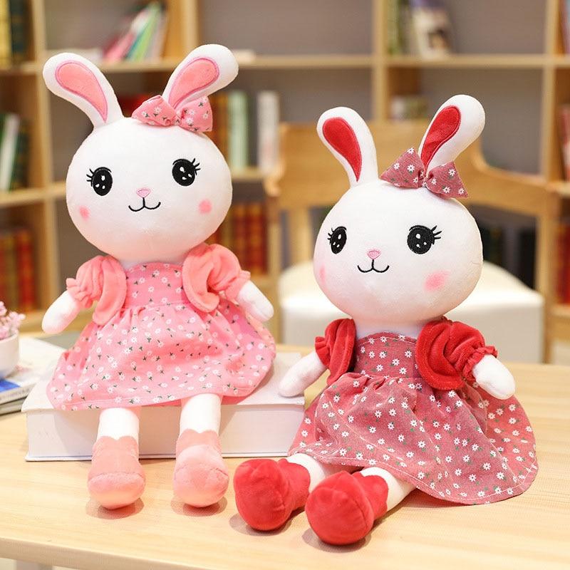Rabbit Plush Toys Kawaii Girl Bunny Toy Child Soft Stuffed Dolls Baby Cute Stuff Doll Kawaii Plush Toy for Kids Brithday Gifts