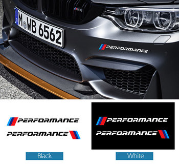 цена на 2pcs Car Styling M Performance Side Skirt Decal Stickers For BMW X1 X3 X5 X6 1 3 5 7 Series E90 E46 E39 F30 F34 Car accessories