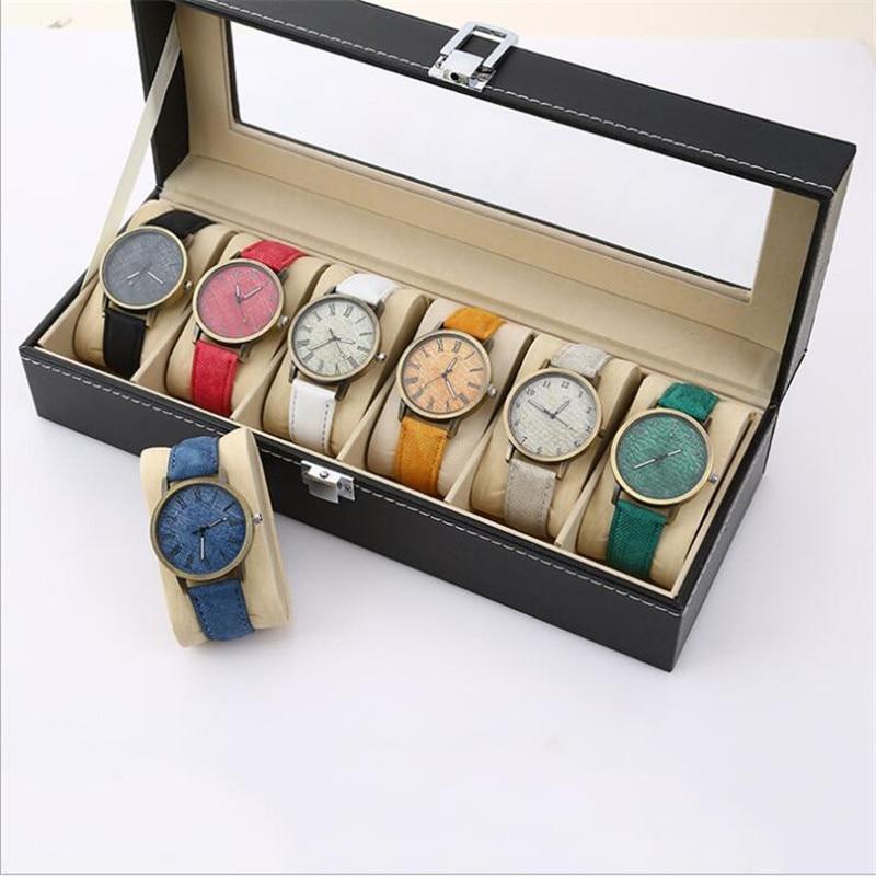 Relojes Women Quartz Watches Denim Design Leather Strap Male Casual Wristwatch Ladies Watch Female Watch Relogio Masculino