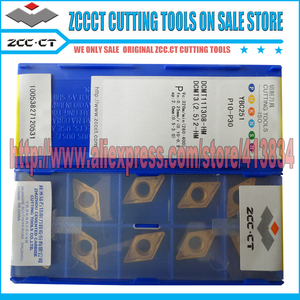Image 2 - 50 قطعة أدوات ZCC DCMT11T308 HM YBC251 DCMT 11T308 HM ZCC.CT عززت كربيد قطع أداة تحول إدراج DCMT11T308 HM