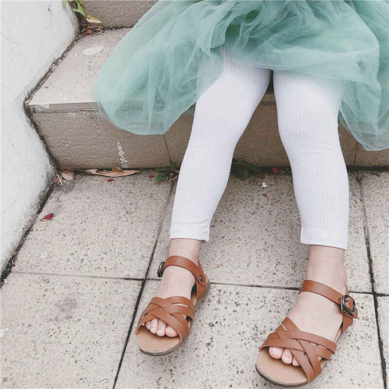2019 Baby Kleding Dikke Warme Katoen Meisjes Volledige Lengte Solid Leggings Basic Plain Kinderen Broek Kinderen