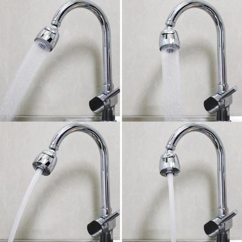 360 Rotatable Bent Water Saving Tap Aerator Faucet Nozzle Filter Water Swivel Head Kitchen Faucet Nozzle Connector Parts in Aerators from Home Improvement