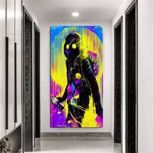 Funny Art Graffiti Mask People Picture Painting Prints Home Art Wall Decoration Frameless Canvas Wall Painting Poster Custom