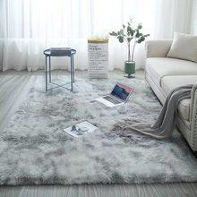 Tapete de pelúcia nórdico macio anti-deslizamento quarto tapete absorção de água sala de estar falso pele área tie-tingimento tapete piso cobertor