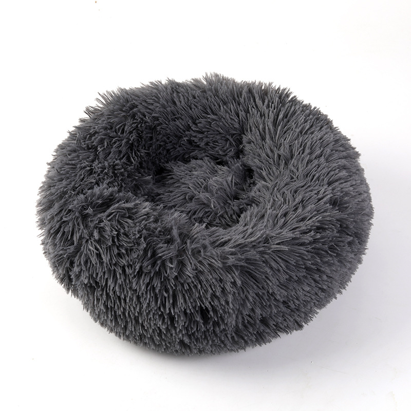 Round and Soft Pet Bed for Dogs and Cats with Anti Slip Bottom Design for Comfortable Sleep of Pets Washable by Machine or Hand 12