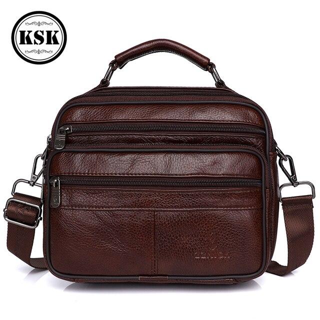 メッセンジャーバッグメンズ本革バッグ高級ハンドバッグベルトのための 2019 ファッションフラップ男性の革のハンドバッグ KSK