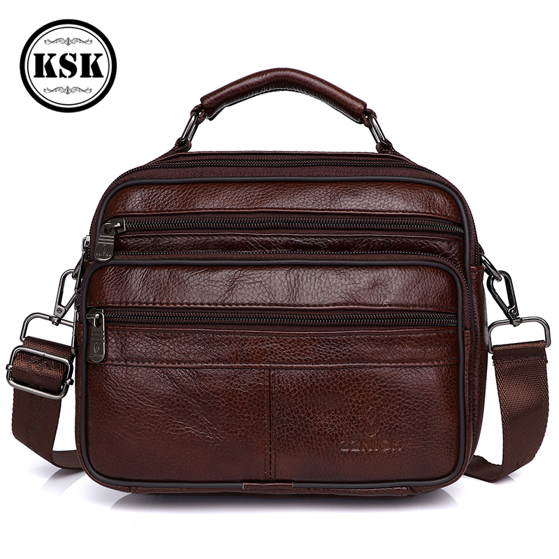 Messenger Bag Men Genuine Leather Bag Luxury Handbag Belt Bags Shoulder Bags For Men 2019 Fashion Flap Male Leather Handbags KSK
