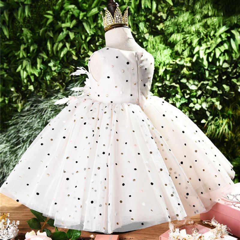新しい夏チュチュドレスのため子供服結婚式のイベント誕生日パーティー衣装子供服