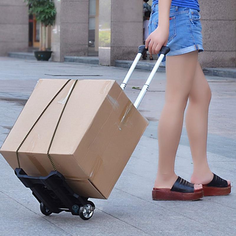 Складные Тележки для багажа, тележки для дома, грузоподъемностью 40 кг, переносная корзина, корзина для покупок, складная тележка для багажа