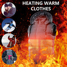 Intelligent Heating Vest Winter Warm Jacket Heated Vest USB Charging Heating Vest Electric Heating Vest Clothes Nov 18th cheap CN(Origin) Fits true to size take your normal size Hiking Vest None Polyester Thermal